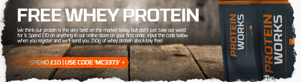 free whey protein from the protein works